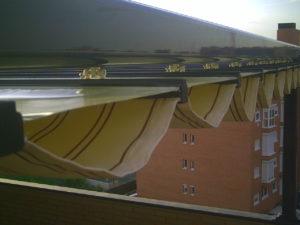 pérgola de doble techo