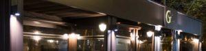 detalle de iluminación en terraza