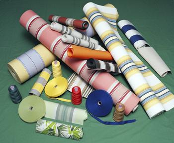 Variedad de colores y texturas de lonas