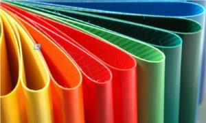 Detalle de lona en PVC en diferentes colores