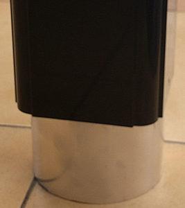 anclaje invisible de pérgola al suelo con perfil de aluminio 120X120 en ensamblaje